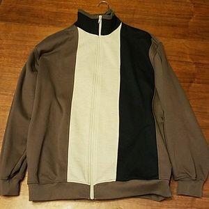 🤴🏌⛳Men's zip up long sleeve heavy shirt